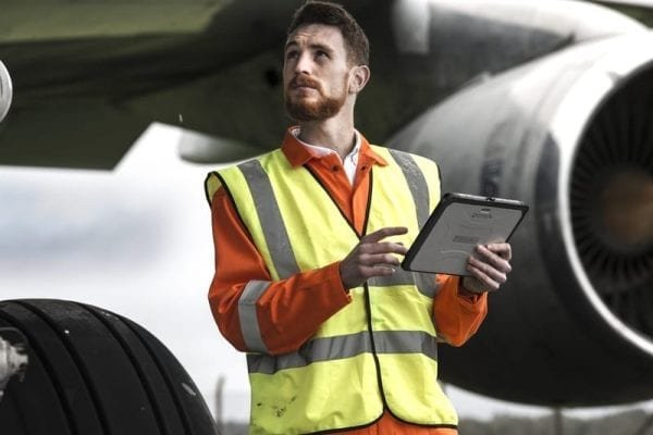Panasonic Tablet FZ-A2 Rugged Tablet in aviation