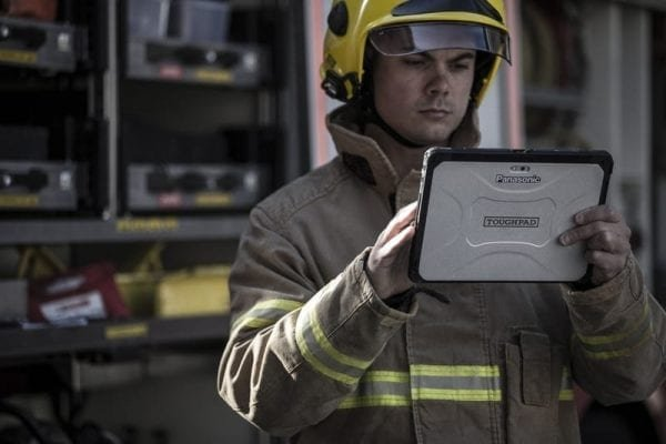 Panasonic FZ-A2 Rugged tablet in fire service