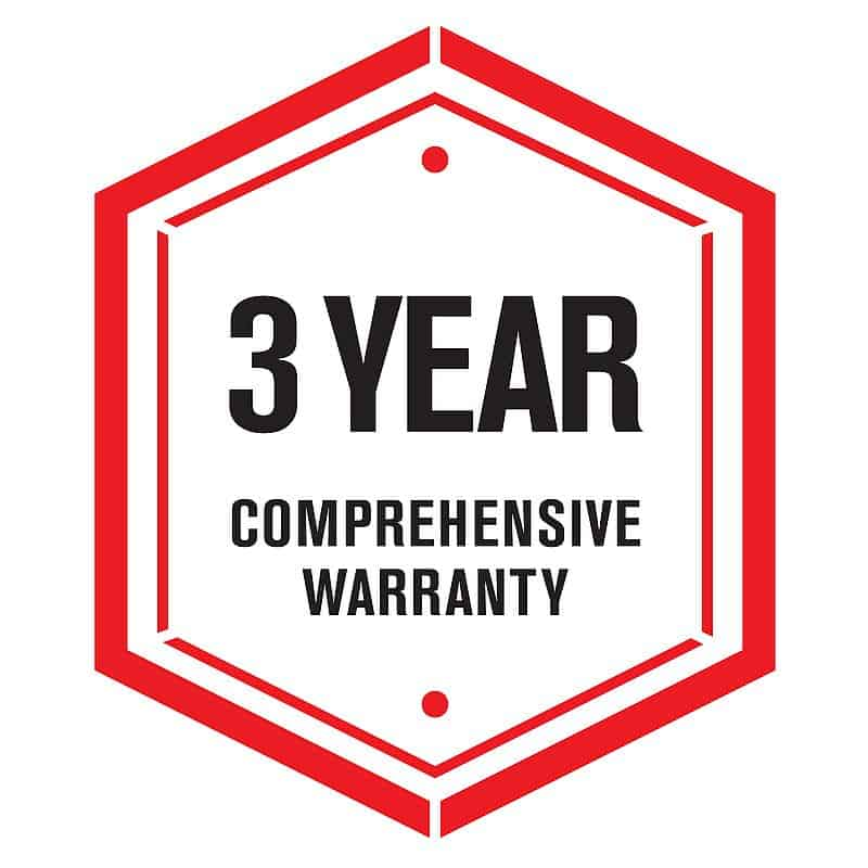 3 Year Warranty badge