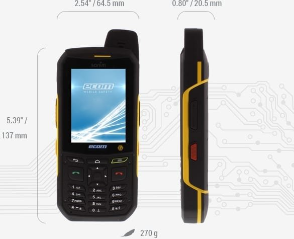 ecom ex-handy 209 intrinsically safe rugged smartphone